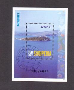 Albania  2004 cancelled Europa holidays sheet