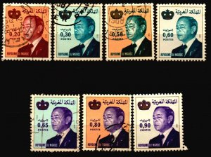 Morocco Scott 508 , 510 , 513 - 515 , 518 -519 used