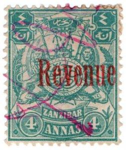 (I.B) Zanzibar Revenue : Duty Stamp 4a