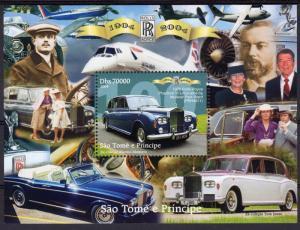 Sao Tome and Principe 2004 Rolls Royce 100th.Anniv/Concorde/Phanton VI S/S(1)