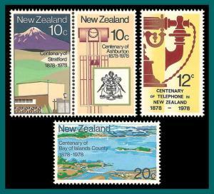 New Zealand 1978 Centenaries, MNH  #657a,658-659,SG1160a,SG1162-SG1163