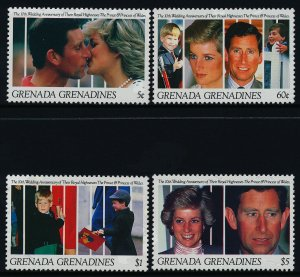 Grenada Grenadines 1331,4-5,8 MNH Prince Charles, Princess Diana, William