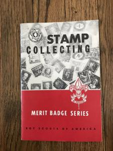 1964 (c)1951 Stamp Collecting Merit Badge Series Boy Scouts of America BSA
