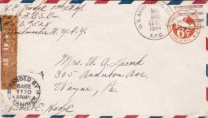 United States A.P.O.'s War Department Penalty 1944 U.S. Army Postal Service, ...