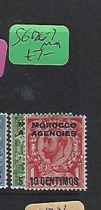 MOROCCO AGENCIES  (P2908B)  KGV    5C-10C  SG 126-7     MOG