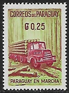 Paraguay # 577 - Truck with Logs - MNH  -{BRN2}