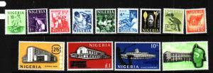 Nigeria-Sc#101-13-unused NH set-Definitives-1961-