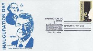 RONALD REAGAN INAUGURATION 1985  - George Washington Masonic Stamp Club