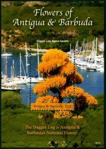 HERRICKSTAMP NEW ISSUES ANTIGUA Sc.# 3414 National Flowers S/S