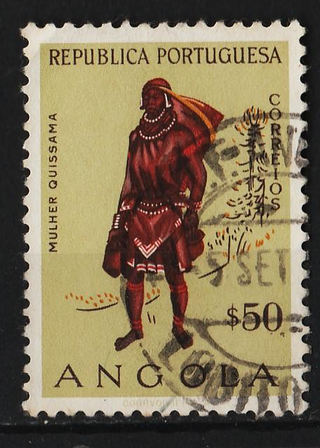Angola 1957 Native Costumes $50 (1/12) USED