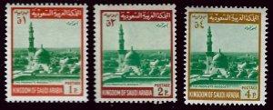 Saudi Arabia SCV#489-90, 492 Mint F-VF.....Worth a Close Look!