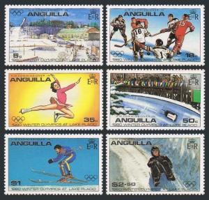 Anguilla 375-380,380a,MNH.Michel 373-378,Bl.30. Olympics Lake Placid-1980.Hockey