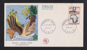 1964 Cooperation of Nations - Color Cachet Unaddressed FDC