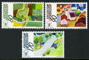 Liechtenstein 882-884, MI 939-941, MNH. Balancing nature conservation, 1988