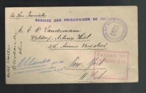 WW1 Holsworthy Liverpool Australia Concentration German POW CAmp COver to USA