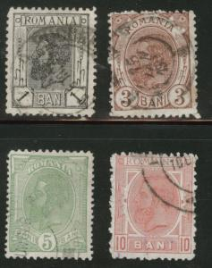 ROMANIA Scott 134-7 used King Carol I  1900, 1-10b
