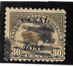 Canal Zone Scott #79 Used 30c Flat Top O/P 2016 CV $20.00