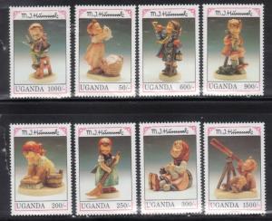 Uganda 1034-41 Children's Wooden Dolls Mint NH