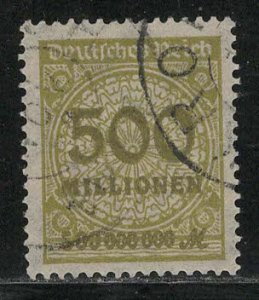Germany Reich Scott # 293, used, variation rotary press print, exp h/s