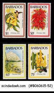 BARBADOS - 1984 CHRISTMAS / FLOWERS - 4V - MINT NH