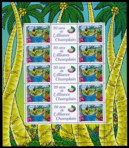 New Caledonia French-speaking cultures Sheetlet of 10v SG#1342 MI#1356