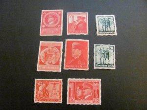 GERMANY 1940'S MNH  7 HITLER & THE NAZIS SETS  (113)