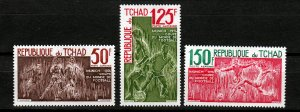 J26934 1974 chad mh set #c157-9 sports