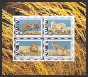 Namibia # 881a, Wild Cats, NH, 1/2 Cat