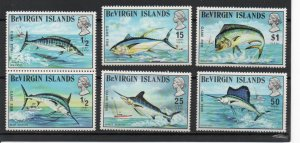 Virgin Islands 243-248 MNH