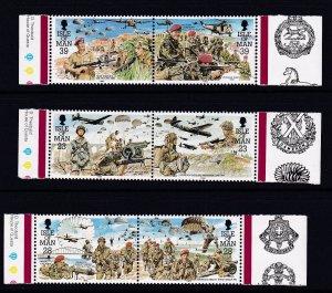 Isle of Man #500a-504a MNH CV$5.40 Parachute Regiment Planes Falkland