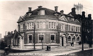ROTHERHAM POST OFFICE - OFFICIAL PO PHOTOGRAPH 1907 Yorkshire