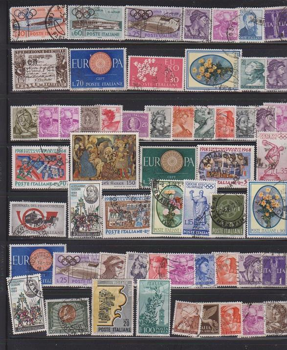 LOT OF DIFFERENT STAMPS OF ITALY USED (57) LOT#151