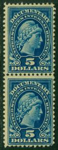 EDW1949SELL : USA 1917 Scott #R244 pair. Mint , part Original Gum. Catalog $70.