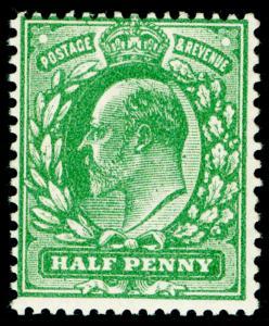 SG279a SPEC M4(3), ½d dp dull green (very blotchy print) NH MINT Cat £1100. (RC)