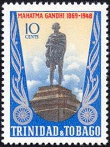 Trinidad & Tobago # 181 mnh ~ 10¢ Mahatma Gandhi Statue