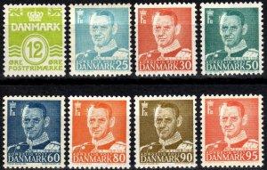 Denmark #333-41  F-VF Unused CV $10.80  (X2354)