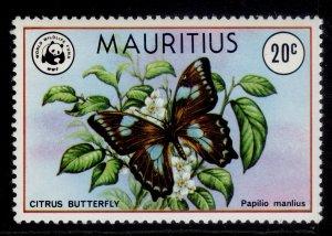 MAURITIUS QEII SG557, 1978 20c type 168, NH MINT.