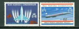 NEW HEBRIDES BRITISH...CONCORDE #130-131..SET...MNH...$1.00