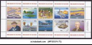 FIJI - 2005 THE ROUTE TO VICTORY / WORLD WAR II - MIN/SHT MNH