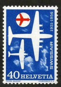 SWITZERLAND 358 MH SCV $1.35 BIN $.60 SWISS AIR