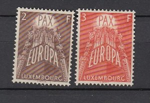J25727 JLstamps 1957 luxembourg part of mh #329-30 europa
