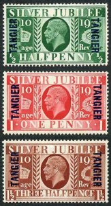 Tangier SG238/40 1935 Silver Jubilee Set of Three with Opt M/M