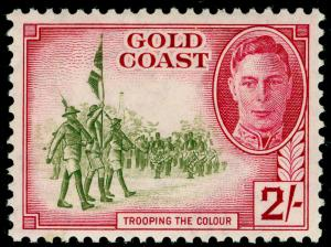 GOLD COAST SG144, 2s sage-green and magenta, LH MINT. Cat £11.
