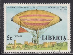Liberia 803 75th Anniv. of the Zeppelin 1978