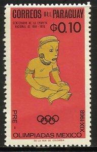 Paraguay 1966 Scott# 927 MH (crease)