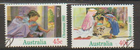 Australia SG 1383 and 1384 VFU  with First Day cancel