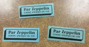 Zeppelin  Etiquette  Airlines mailing label 1 NH 1930s  Europe South America