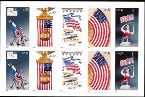 3780b Mint,OG,NH... Booklet Pane... SCV $7.50... Backing #2