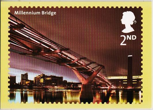 Great Britain. 2002 Bridges of London. PHQ Cards(5) Unused