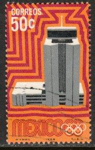 MEXICO 998, 50c 1968 Olympics, Mexico City. Used. VF. (992)